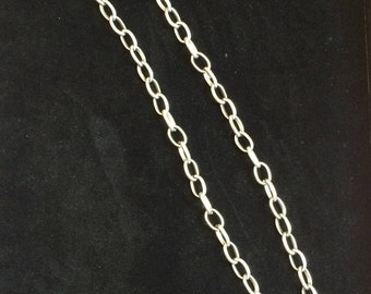 Silver Plated Ball & Chain Necklace