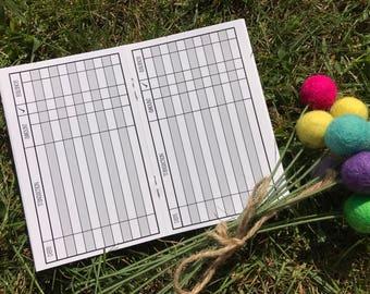 Traveler's Notebook POCKET Size Checkbook Register Style Inserts