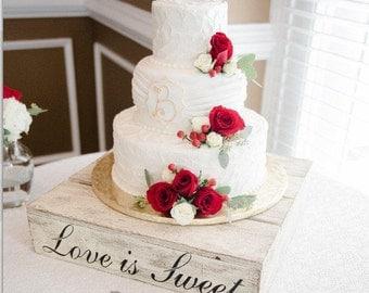 Sweet stand wedding