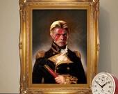 David Bowie Renaissance Portrait Print, David Bowie Poster, Music Print