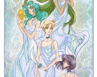 The Outer senshi, Pretty Sailor Moon Poster