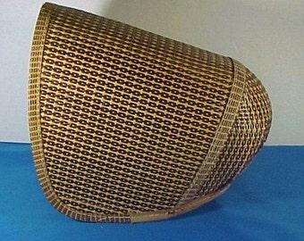 Antique Bonnet, c 1850 Shaker Sister's Bonnet, Woven Palm Leaf, Numbered 7
