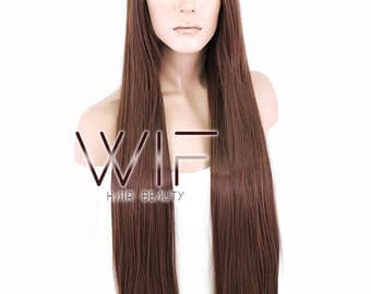 "Wig is Fashion 31"" Long Straight Light Brown Fashion Synthetic Hair Wig PL395"