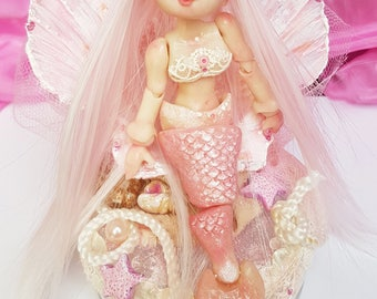 NAIA Little Mermaid, BJD doll articulated handmade