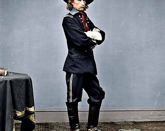 General George Armstrong Custer made his reputation as a young cavalry commander during the Civil War.
