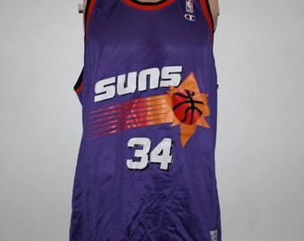 Vintage Phoenix Suns Charles Barkley Champion NBA Jersey 48