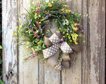 Front Door Wreaths, Double Door Wreaths, Front Door decor, Summer Wreath, Mothers Day Wreath, door wreath, door wreath spring, burlap wreath