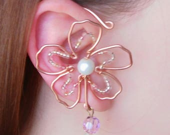Wire Necklace and Earcuff Set