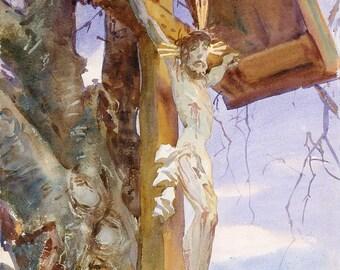 "John Singer Sargent : ""Tyrolese Crucifix"" (1914) - Giclee Fine Art Print"