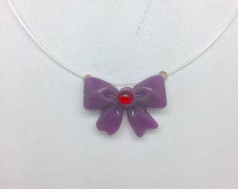 Sailor Moon Insired Mars Bow Necklace