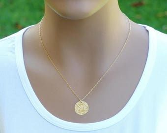 Textured Disc Necklace, Gold Disc Necklace, Disc Necklace, Gold filled disc necklace, coin necklace, gold coin necklace, Gold filled coin