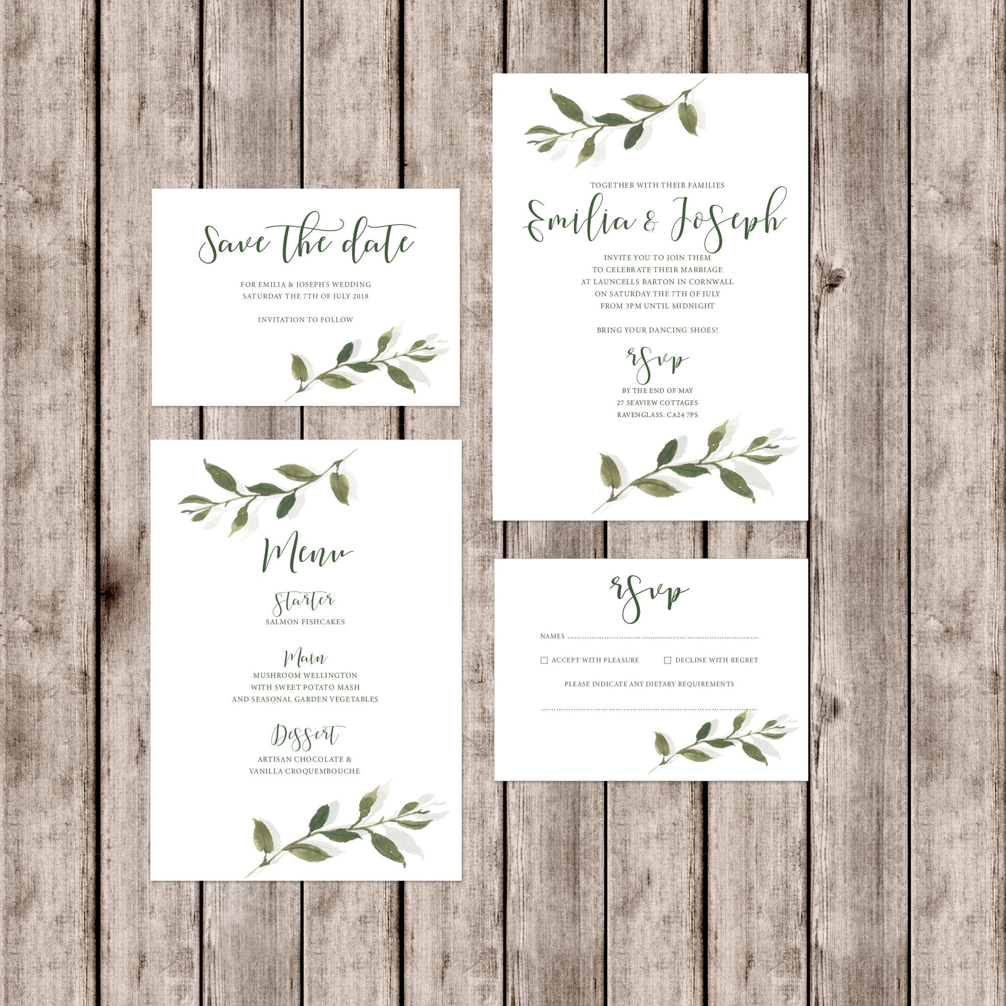 Sophisticated somerset wedding invitations with leaf detail and sophisticated somerset wedding invitations with leaf detail and matching accessories monicamarmolfo Gallery