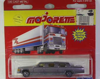 Vintage  Scarce NOS  Majorette die cast scale model  Cadillac stretch Limousine sealed unopened.