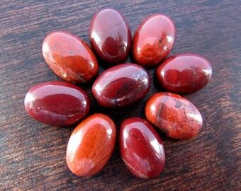 2 pcs Natural Red Jasper Cabochon 10 x 14 mm Oval Jasper Cabochon Natural Stone Flat back Gemstone Jewelry/Craft Supplies