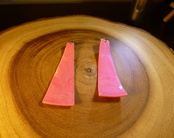 pink vinyl record earrings
