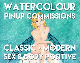 Watercolour Pinup Commissions