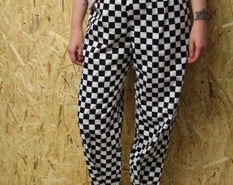 Pantaloni a scacchi Tomboy unisex