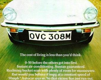 Triumph Spitfire Car Print 1974, Advertising Wall Art