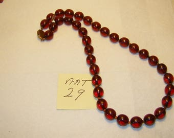 Ant #29 Cherry Amber Necklace