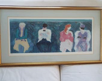 Barbara A Wood lithograph ACT 1 limited edition print  pencil signed numbered 345/975 impressionist