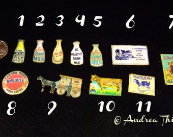 "Miniature ""Tin"" Sign for the Dairy & Ice Parlor - 1/12 scale - choose ONE"