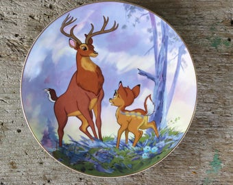 """Disney's Bambi """"The Great Prince of the Forest"""" Collector Plate #86/20,000"""