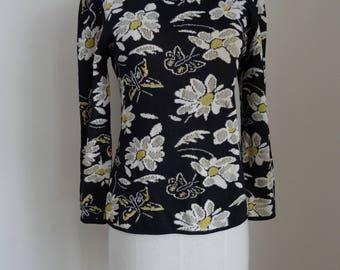 80's Sweater Ungaro Paris Italy Knit Designer Tapered Pullover