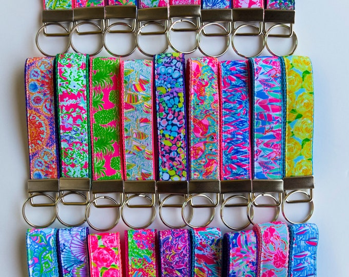 Featured listing image: Lilly Pulitzer Key Fob in She She Shell, You Gotta Regatta, and Flamenco Pineapple