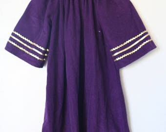 vintage purple and gold striped wizard a line dress