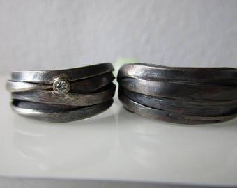 Weddingrings Silver diamant,  Engagementring