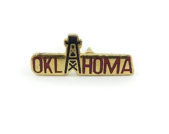 Vintage Oklahoma Pin, Gold Tone, P65
