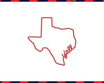 Texas Outline SVG Texas SVG State Outline SVG Texas Decor Cricut Files Silhouette Files Digital Files Scan n Cut Files Yall svg Southern svg