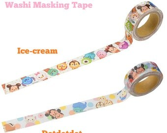 Disney TSUM TSUM Washi Tape - Paper Masking Tape 15mm ×8m