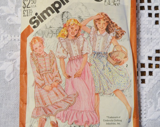 Vintage Simplicity 5594 Sewing Pattern Girls Dress in 3 Lengths Cinderella Size 7 Crafts  DIY Sewing Crafts PanchosPorch
