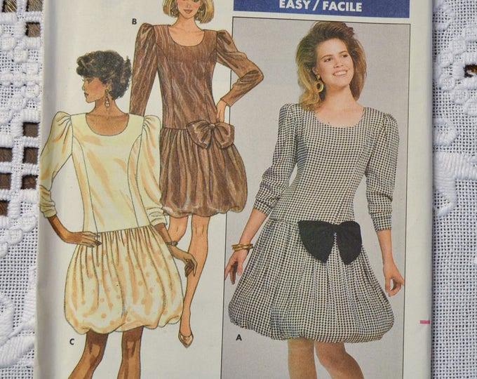 Butterick 5869 Sewing Pattern Misses Dress Size 12 14 16 DIY Vintage Clothing Fashion Sewing Crafts PanchosPorch