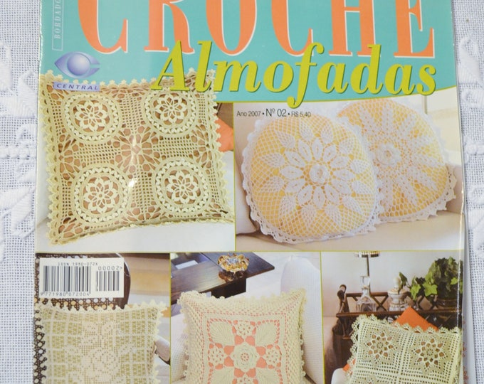 Crochet Magazine Trabalhos em Croche Brazilian Magazine Pillow Cushion Charts Pattern Instructions DIY Craft Portuguese PanchosPorch