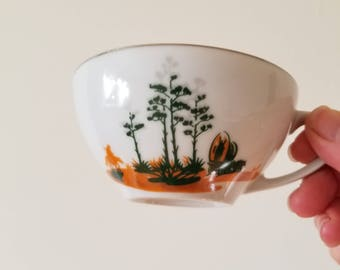 Vintage Blakely Fine China Arizona Cactus Teacup without Saucer. Japan. Century Plant.