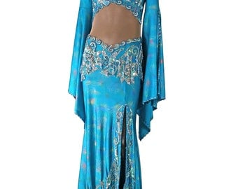 Turquoise Egyptian Belly Dance Costume