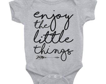 Baby onesie. Enjoy the little things