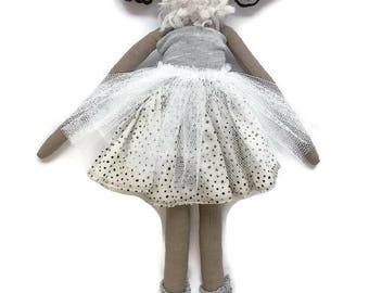 Sunday Best Lola Doll, Cloth Doll, Hand made Doll, 45cm tall