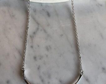 Fox rib necklace, Bar necklace, Sterling silver, Little Gypsy Bones, Kaya Tinsman, Thin chain, Fox necklace
