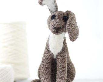 Brown Hare Crochet Kit - Amigurumi Crochet Hare Kit - craft kit gift - crochet hare project - hare craft kit for adults - crochet pattern