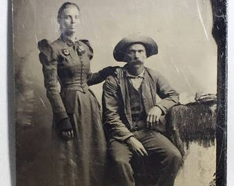 Tintype of Couple
