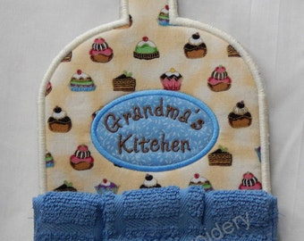 Cupcake, Nana, Mom, Grandma  Kitchen Towel Topper