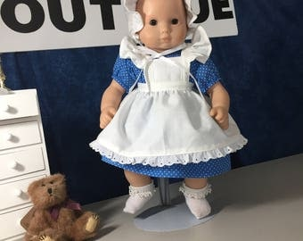 "darling dress with pinafore for 15"" doll"