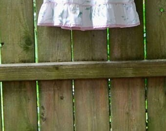 Girls size 3-4 Upcycled Pillowcase Nightgown, Pillowcase Dress, Angel Sleeves, Pink Floral Nightgown, Flutter Sleeves, Girls Summer Dress