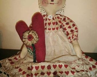 "22"" primitive Annie doll"