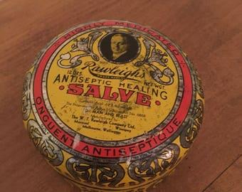 Vintage Rawleighs Antiseptic Healing Salve Tin