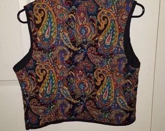 Paisley hippie festival vest