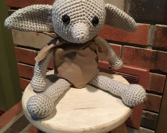Harry Potter Dobby the house elf, Crocheted dobby doll, stuffed toy